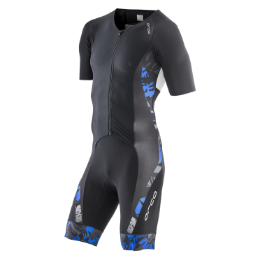 Orca 226 kompress aero race trisuit korte mouw zwart/blauw heren