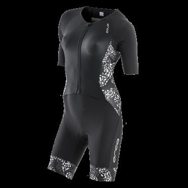 Orca 226 kompress aero race trisuit korte mouw zwart/wit dames