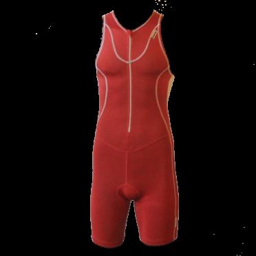 Ironman trisuit front zip mouwloos Speedflo rood/zilver heren