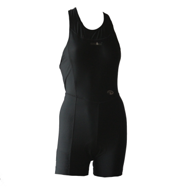 Ironman trisuit mouwloos open back Duofold zwart dames
