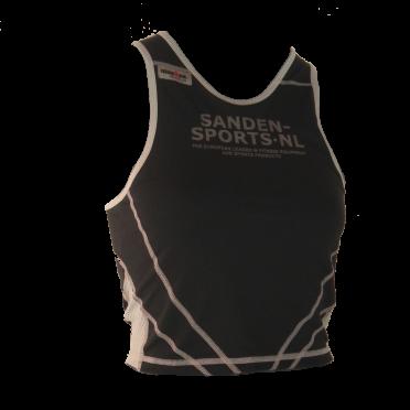 Ironman tri top mouwloos extreme zwart/sanden dames