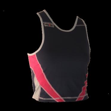 Ironman tri top mouwloos extreme blauw/roze dames