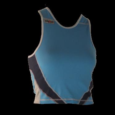 Ironman tri top mouwloos extreme 360 blauw dames
