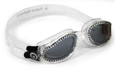 Aqua Sphere Kaiman donkere lens zwembril zilver