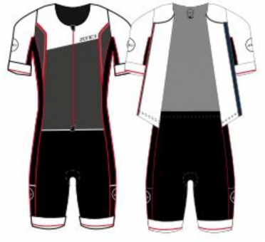 Zone3 Lava long distance FZ korte mouw trisuit heren