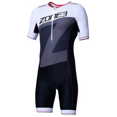 Zone3 Lava long distance korte mouw trisuit heren