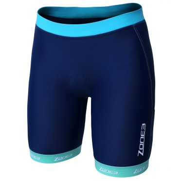 Zone3 Lava long distance tri short blauw dames