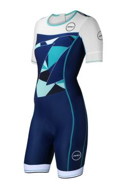 Zone3 Lava long distance korte mouw trisuit dames
