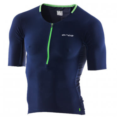 Orca 226 Perform tri jersey korte mouw blauw/groen heren