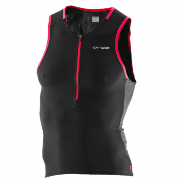 Orca 226 Perform tri tank top mouwloos zwart/rood heren
