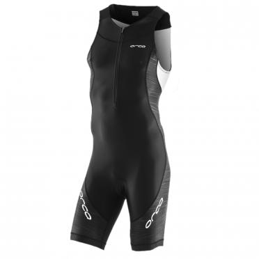 Orca Core race mouwloos trisuit zwart/wit heren