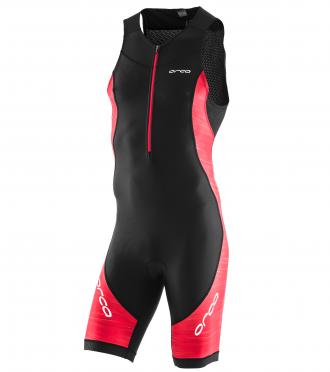 Orca Core race mouwloos trisuit zwart/rood heren