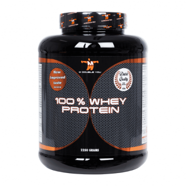 M Double You 100% whey protein 2250 gram cookies & cream