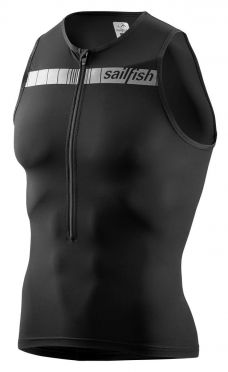 Sailfish Competition tri top zwart heren