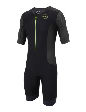 Zone3 Aquaflo plus korte mouw trisuit zwart heren