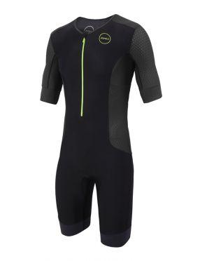 Zone3 Aquaflo plus korte mouw trisuit zwart heren