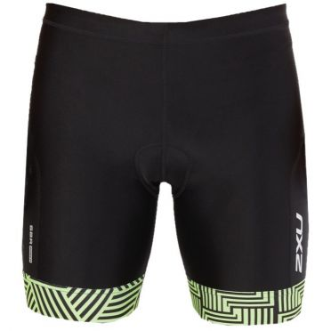"2XU Perform 7"" tri shorts zwart/groen heren"