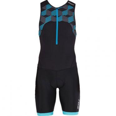 2XU Active mouwloos trisuit zwart/blauw heren