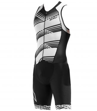 2XU Compression mouwloos trisuit zwart/wit heren MT5517d