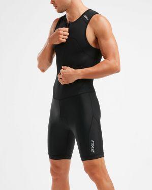 2XU Active mouwloos trisuit zwart heren
