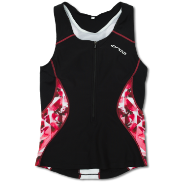 Orca Core tri top zwart/roze dames