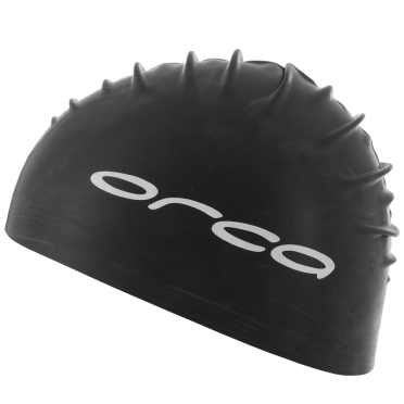 Orca Latex badmuts swim cap zwart