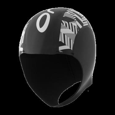 Orca Neopreen swim cap zwart/zilver