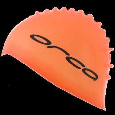 Orca Siliconen badmuts swim cap oranje