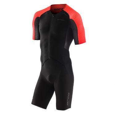 Orca dream kona aero race trisuit korte mouwen zwart/rood heren