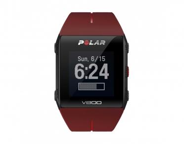 Polar V800 GPS sporthorloge met hartslagsensor rood