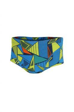 Zone3 Prism 2.0 brief zwembroek blauw/geel heren