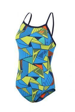 Zone3 Prism 2.0 Strap back badpak blauw/geel dames