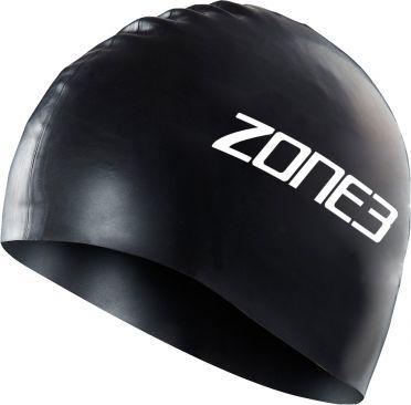 Zone3 Silicone swim cap zwart