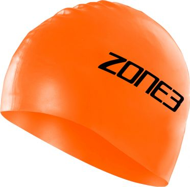 Zone3 Silicone swim cap oranje