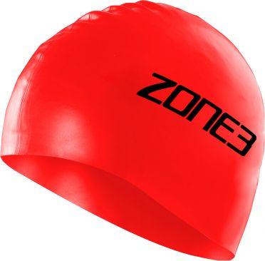 Zone3 Silicone swim cap rood