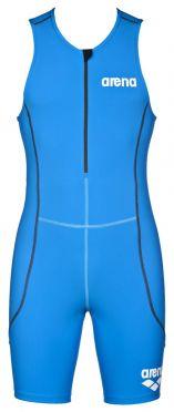 Arena ST front zip mouwloos trisuit blauw heren