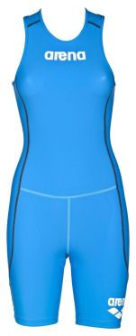 Arena ST rear zip mouwloos trisuit blauw dames