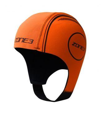 Zone3 Neopreen swim cap oranje
