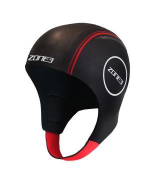 Zone3 Neopreen swim cap zwart/rood