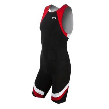 TYR Carbon backzip trisuit zwart/rood heren