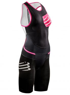 Compressport Tr3 aero trisuit compressie zwart dames