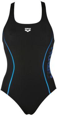 Arena Resistor badpak zwart/blauw dames