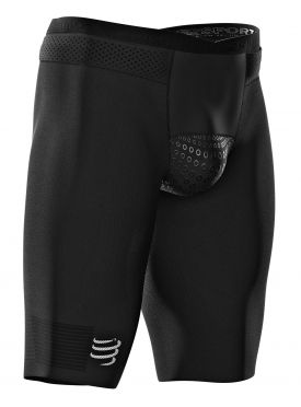 Compressport Under control compressie tri short zwart heren
