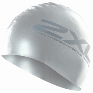 2XU Siliconen swim cap zilver