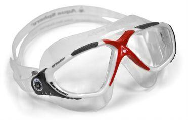 Aqua Sphere Vista transparante lens zwembril zilver/rood