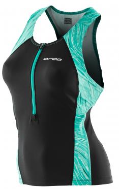 Orca Core Support singlet mouwloos tri top zwart/groen dames