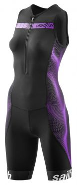 Sailfish Competition trisuit zwart/paars dames