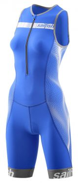 Sailfish Competition trisuit blauw/wit dames