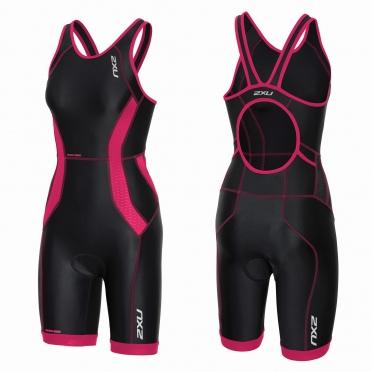 2XU Perform tri suit y-back zwart/roze dames