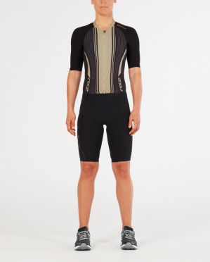 2XU Project X korte mouw trisuit zwart/goud dames